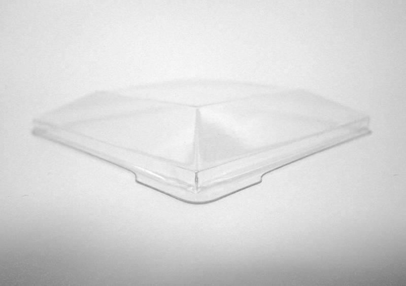 Billede af Låg til bowl firkantet 1278185 130x130x35mm 100stk/krt klar