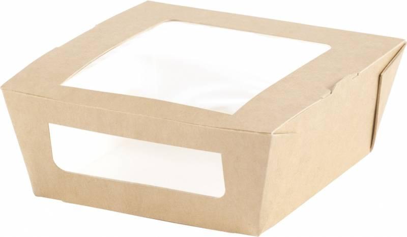 Salatbox PLA m/vindue 120x110x45mm 200stk/kar
