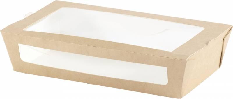 Salatbox PLA m/vindue 200x120x45mm 250stk/pak