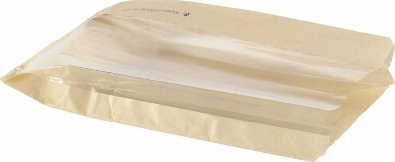 Papirspose PLA t/bagle/muffins 280x150x55 1000stk/pak