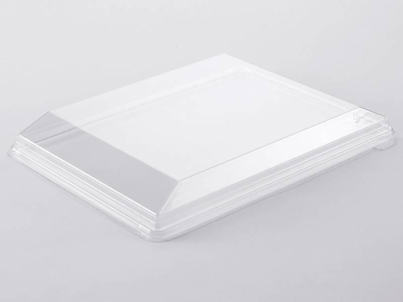 Image of   Låg t/Zen fad plastbakke klar D-PET 325x250x36mm 120stk/kar