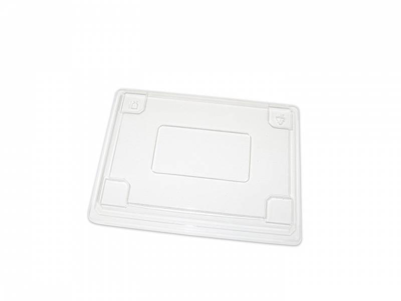 Image of   Låg t/lille Sushi 1271222 klar plast 250my 175x147x28mm 300stk/kar
