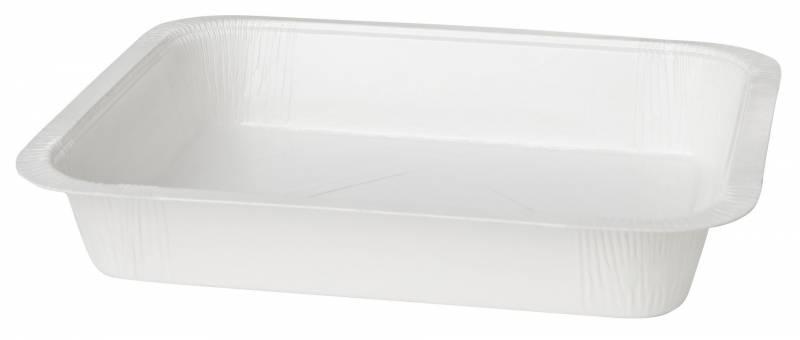 Kartonbakke m/PET hvid 227x177x40mm 1000ml 300stk/kar