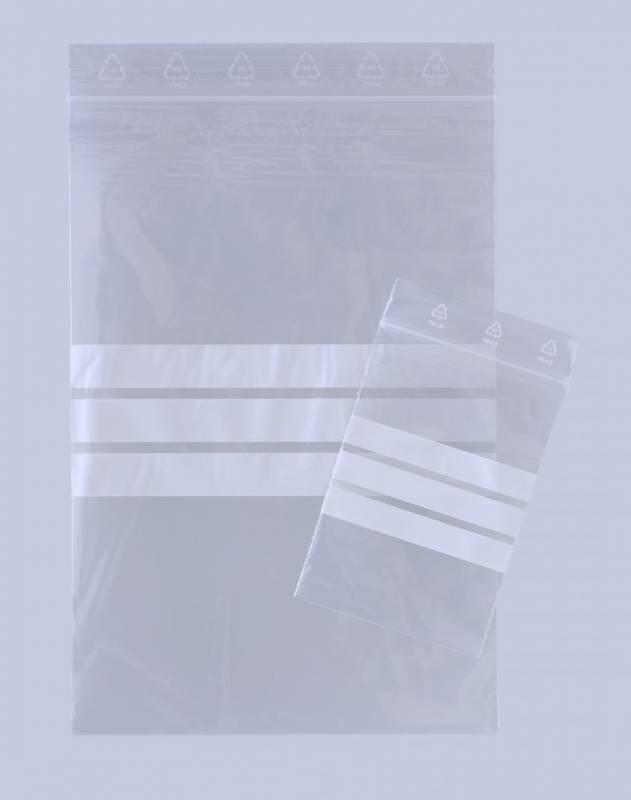 Lynlåspose 150x220mm u/hul m/skrivefelt 1000stk/pak