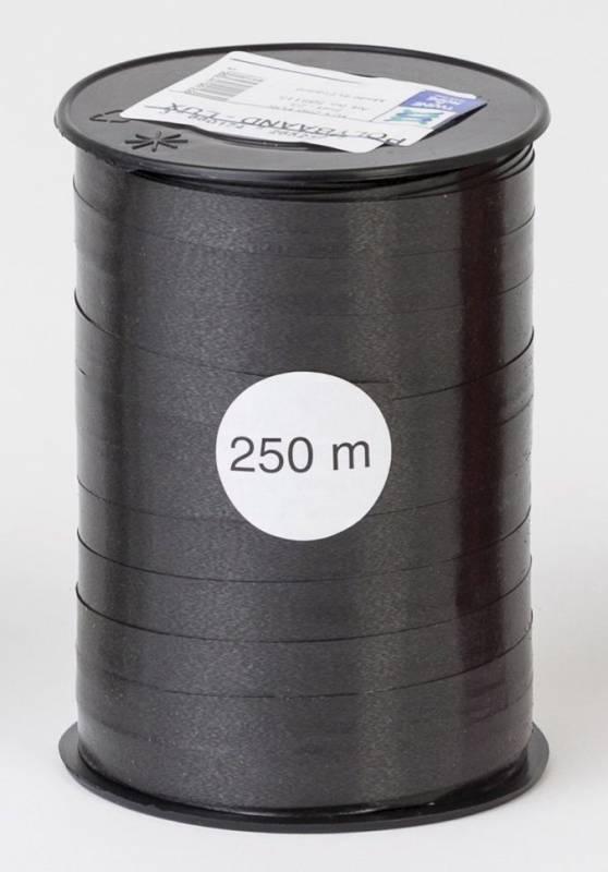 Billede af Gavebånd glat sort 10mmx250m nr. 23