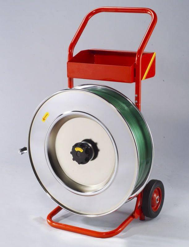 Billede af Båndvogn til plast og stålbånd m/406mm kerne rød - 13-19mm
