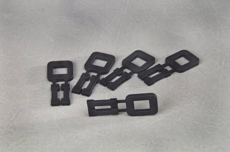 Billede af Plasthåndspænder sort til 16mm bånd 1000stk/kar