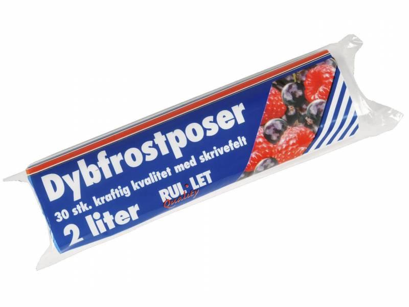 Image of   Fryseposer Rul-let 2l 15x35cm m/skrivefelt 30ps/rl