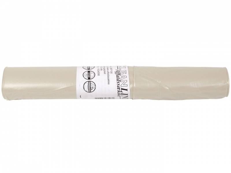 Image of   Affaldssække plastik klar 700x1050mm Basic