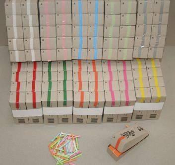 Billede af Kinesisk lotteri gul 200numre/pak