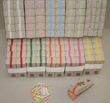 Billede af Kinesisk lotteri blå 200numre/pak