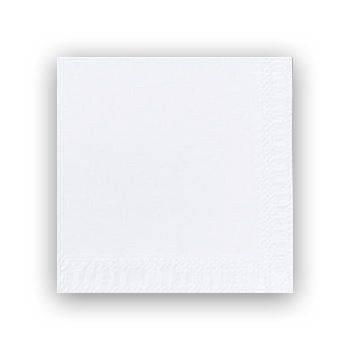 Billede af Servietter 3-lags Duni hvid 24cm 2000stk/kar