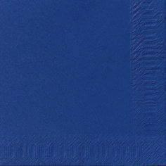 Image of   Servietter Duni 3-lags mørkeblå 33cm 1000stk/kar