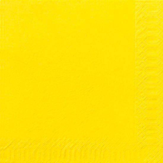 Billede af Servietter 3-lags Duni gul 33cm 1000stk/kar