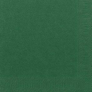 Billede af Servietter 3-lags Duni mørkegrøn 40cm 1000stk/kar