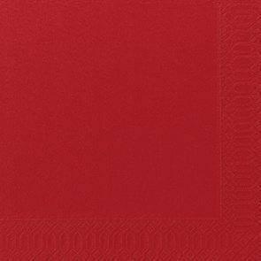 Billede af Servietter 3-lags Duni rød 40cm 1000stk/kar