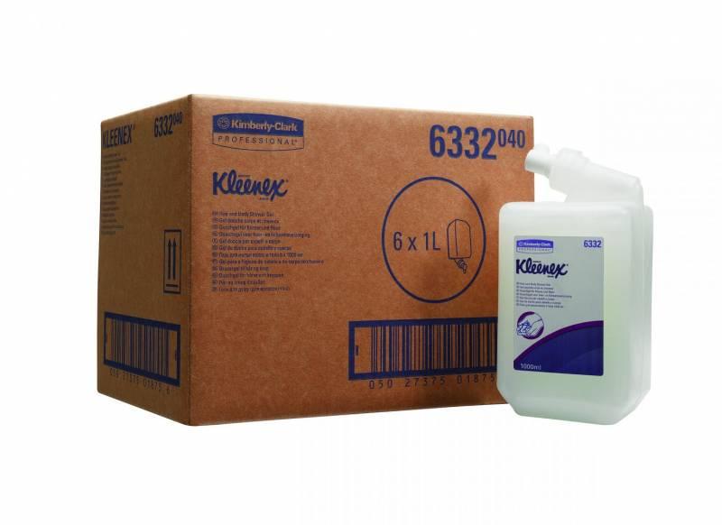 Image of   Shampoo hår/body Kleenex 1l 6stk/kar