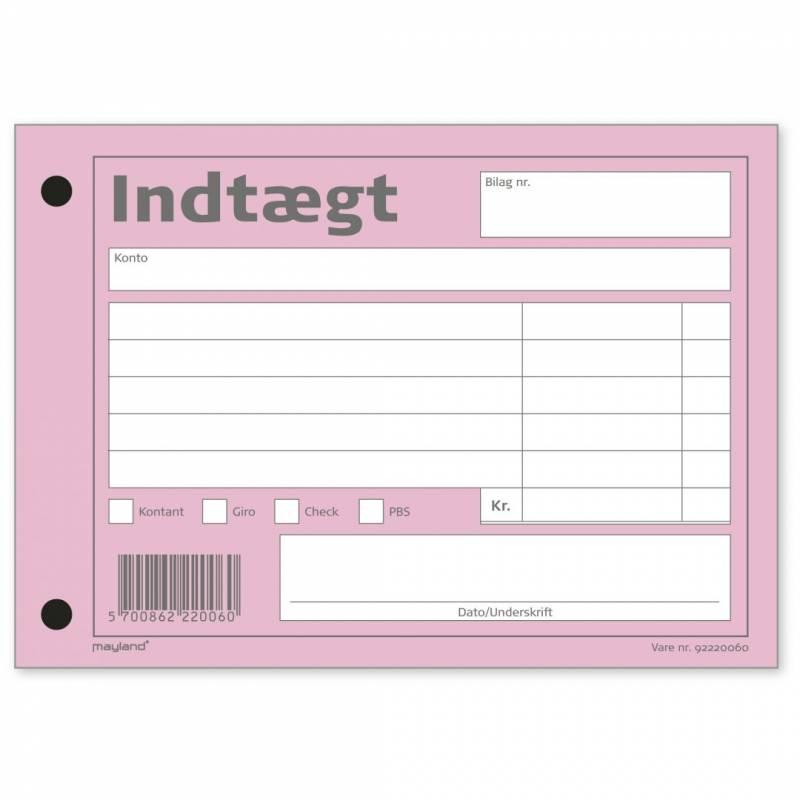 Image of   Indtægtbilag 100bl 100x148mm 92 2200 60