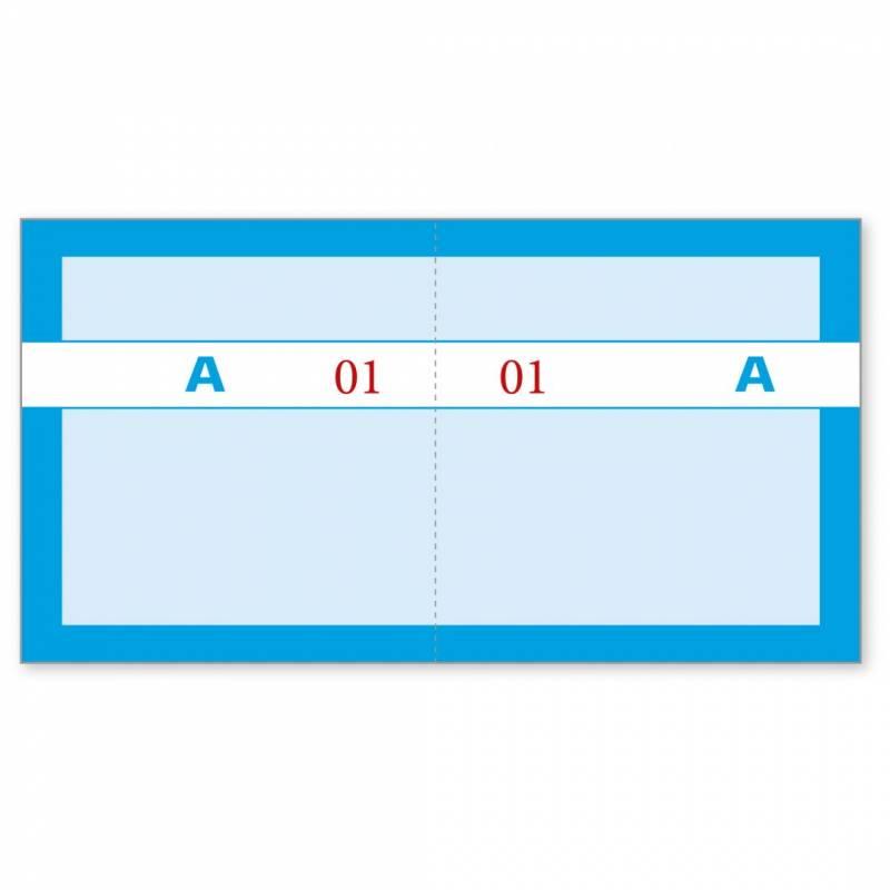 Billede af Kuponbog blå 2x1-100 130x70mm 92 2205 60
