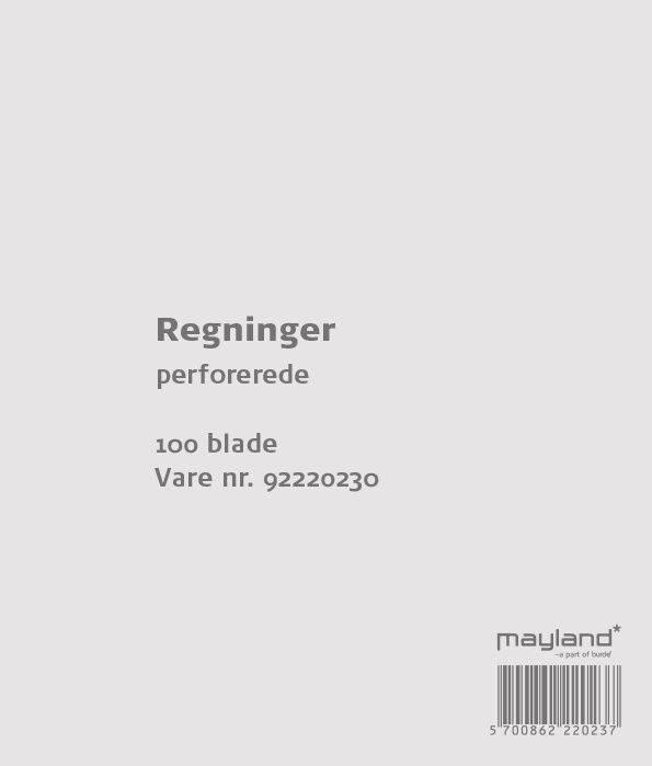 Image of   Regningsblok 100bl 126x148mm 92 2202 30