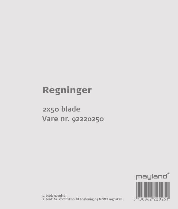 Image of   Regninger 2x50bl 126x148mm 92 2202 50