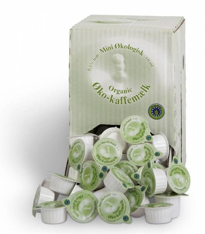Kaffemælk økologisk i kapsel 0,5% 100stk/kar