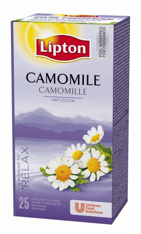 Image of   Te Lipton Kamille 25breve/pak (enkelt pakke)
