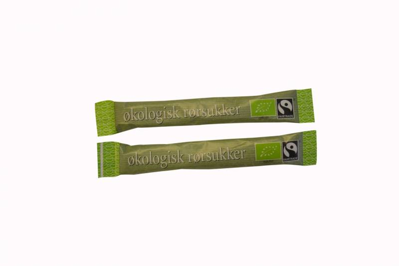 Image of   Rørsukker Fairtrade/økologi 1000sticks á 3g