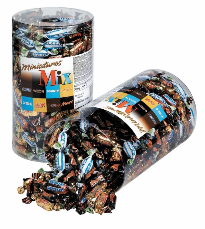Image of   Chokolade Mixed miniatures 3kg/pak 296stk