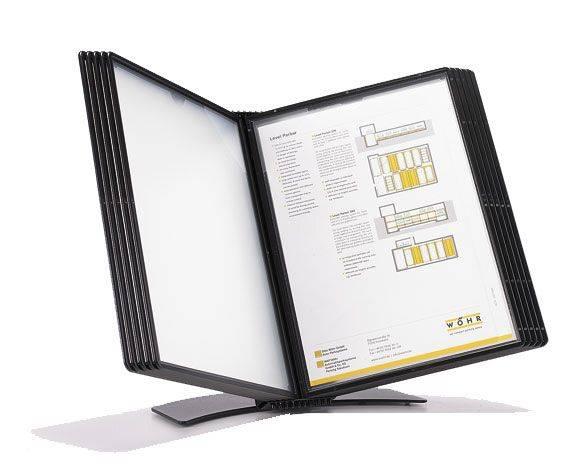 Billede af Registersystem A5 Easymount t/5 lommer sort bordmodel