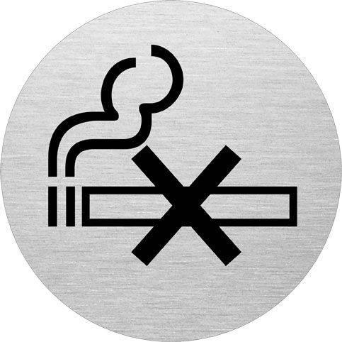 Billede af Skilt Rygning forbudt alu Ø75mm