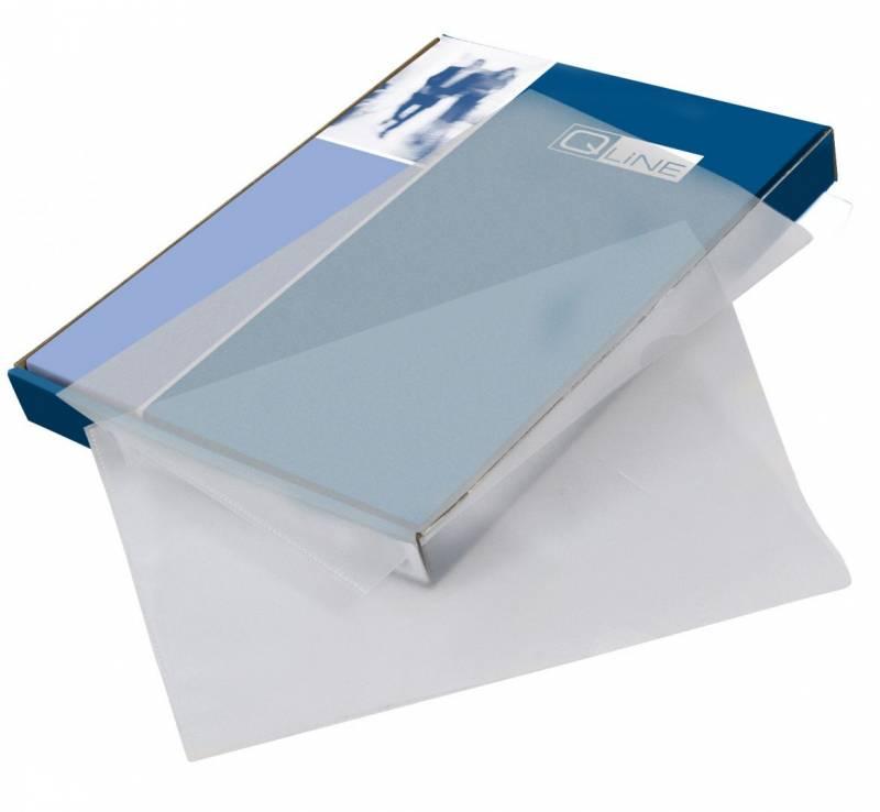 Billede af Plastomslag A4 Q-line m/præg 0,08mm 100stk/pak