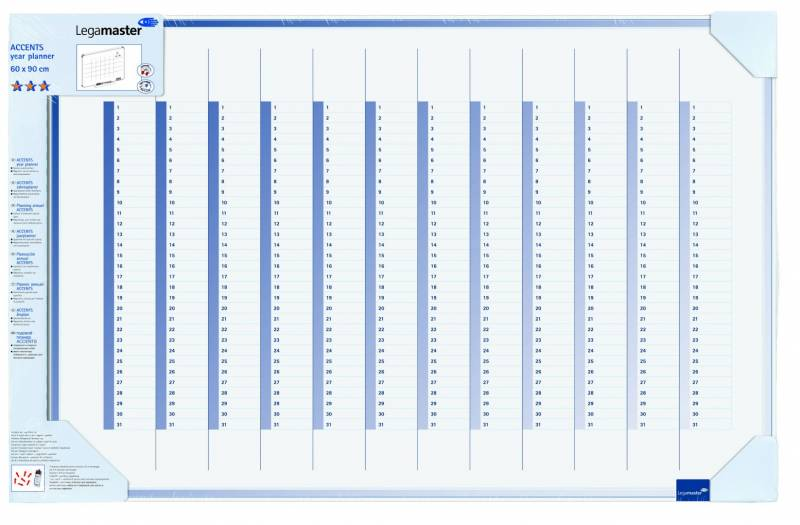Image of   Planlægningstavle Legamaster Års-planner 4890 600x900mm