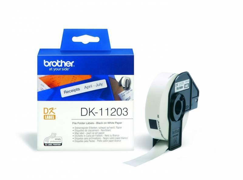 Billede af Label Brother hvid DK11203 17x87mm 300stk/rul