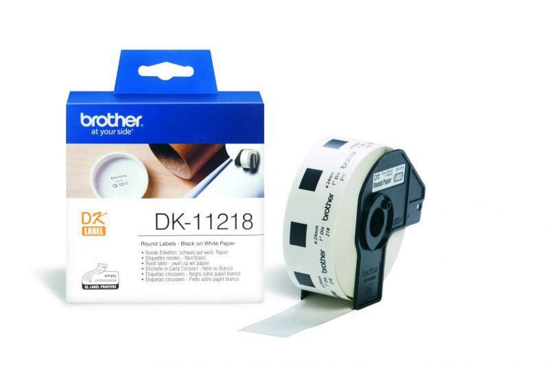 Image of   Label Brother hvid DK11218 Ø24 1000stk/rul