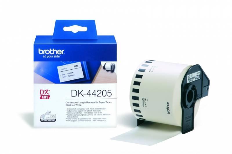 Image of   Label Brother hvid DK44205 30,48mx62mm aftagelig papir