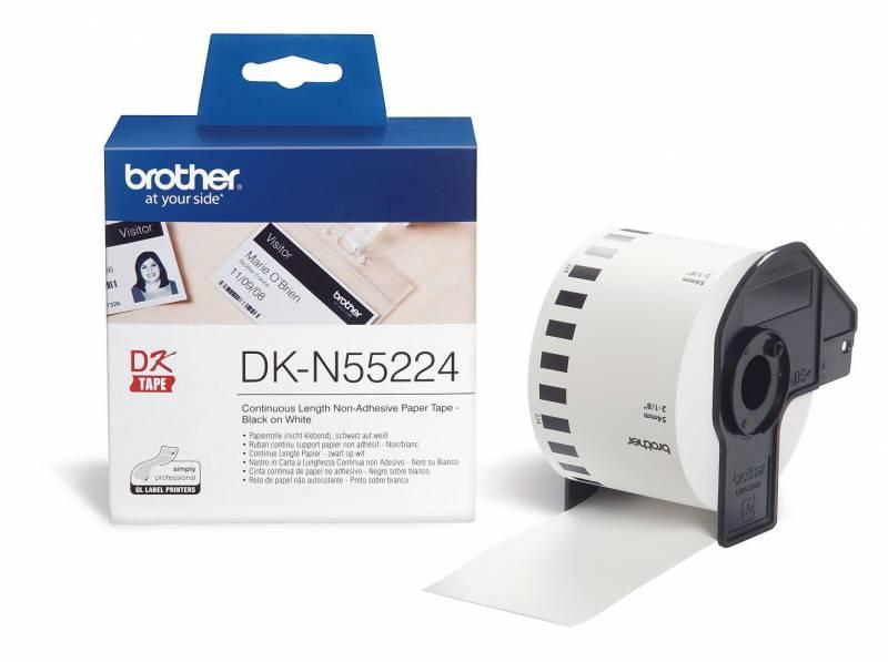 Billede af Label Brother hvid DKN55224 3048mx54mm u/lim papirtape