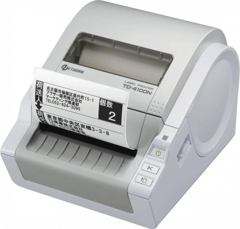 Image of   Brother Labelprinter TD-4100N op til 102 mm, m/netkort
