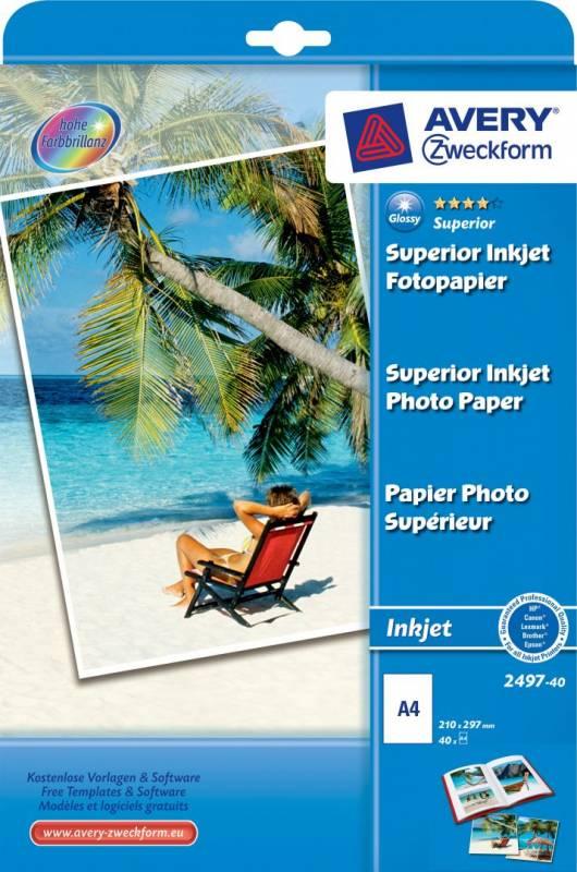 Billede af Fotopapir Premium A4 230g glossy t/inkjet pk/40 ark