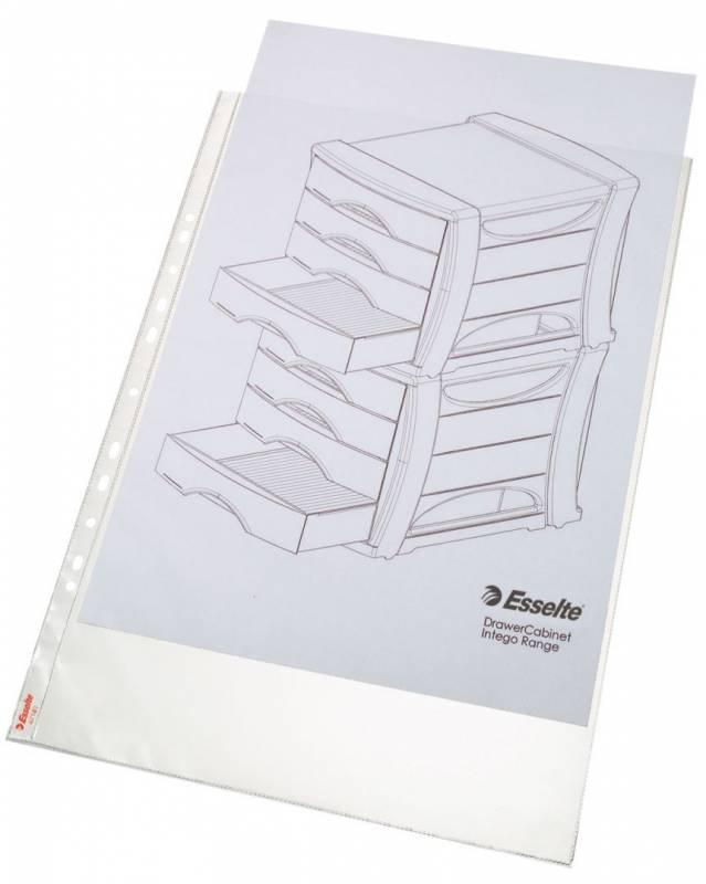 Billede af Plastlomme Esselte A3 0,085mm hul lang side premium 10stk/pak