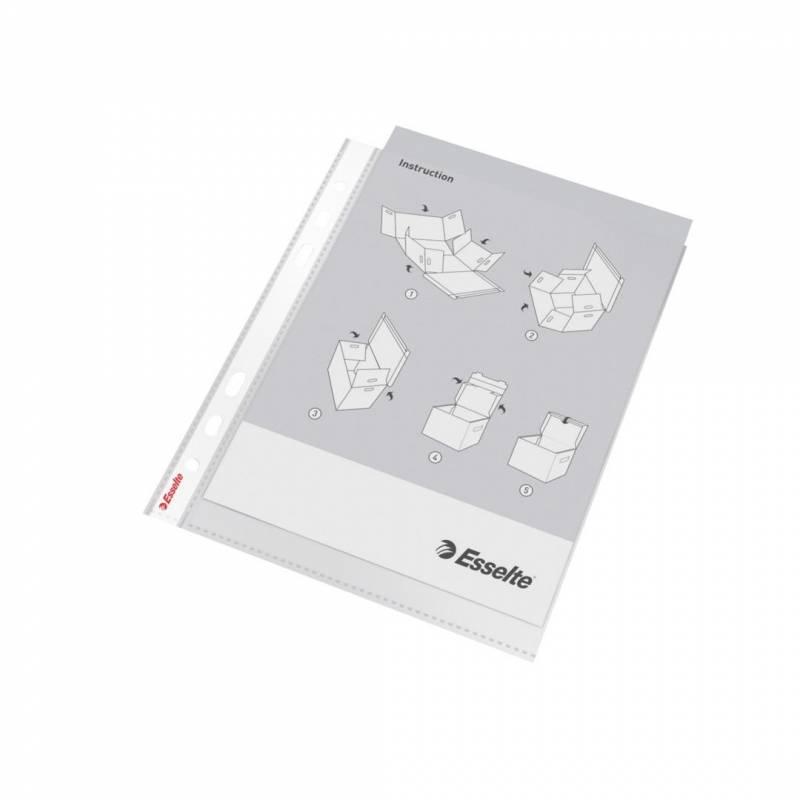 Billede af Plastlomme Esselte A5 0,85mm premium præg 10stk/pak