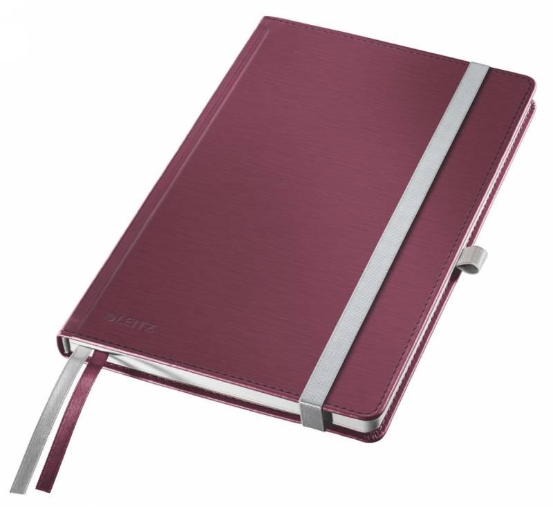 Billede af Notesblok Style A5 Hard linieret rød 80ark
