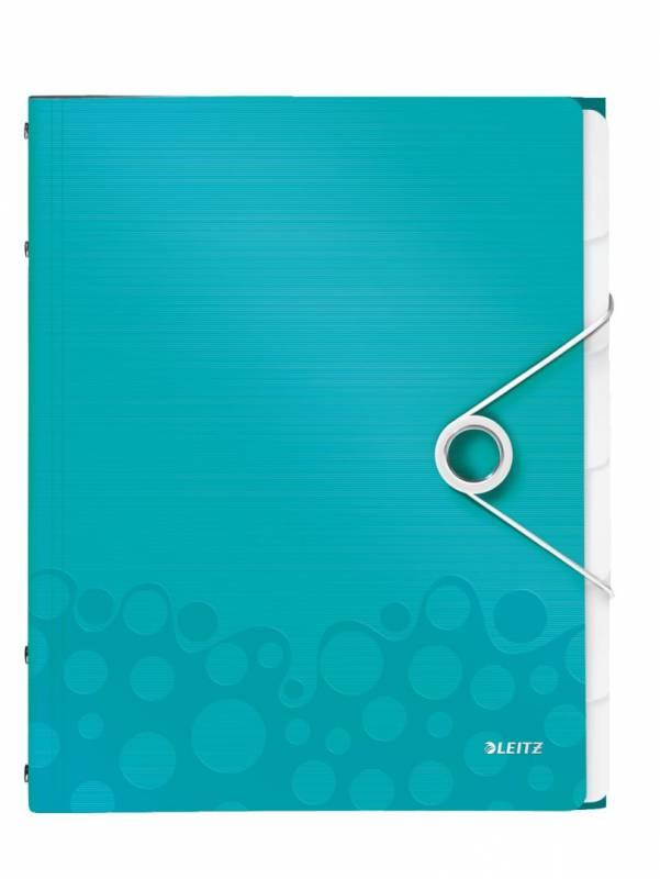 Image of   Sorteringsmappe Leitz WOW PP 6-delt isblå