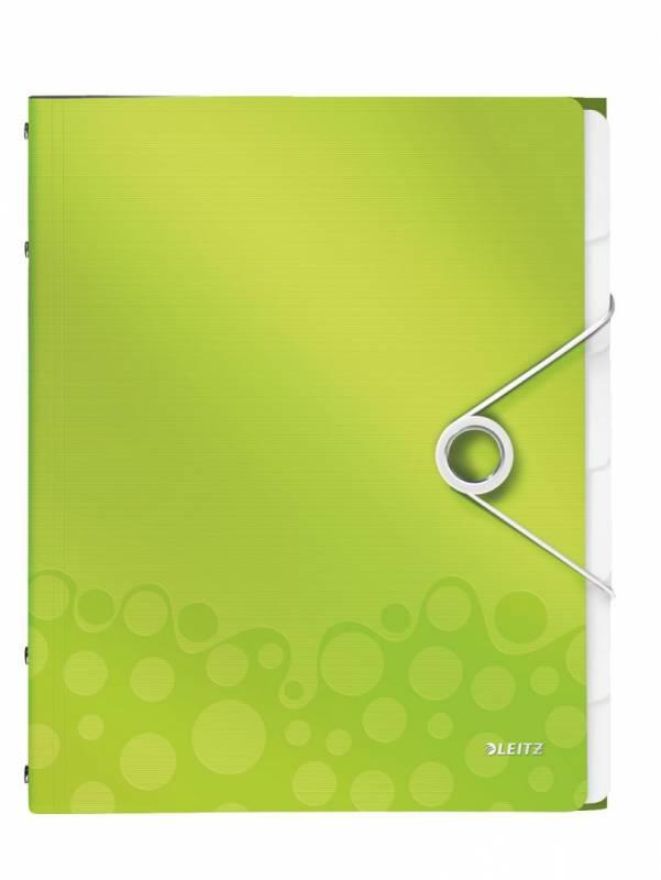 Image of   Sorteringsmappe Leitz WOW PP 6-delt grøn