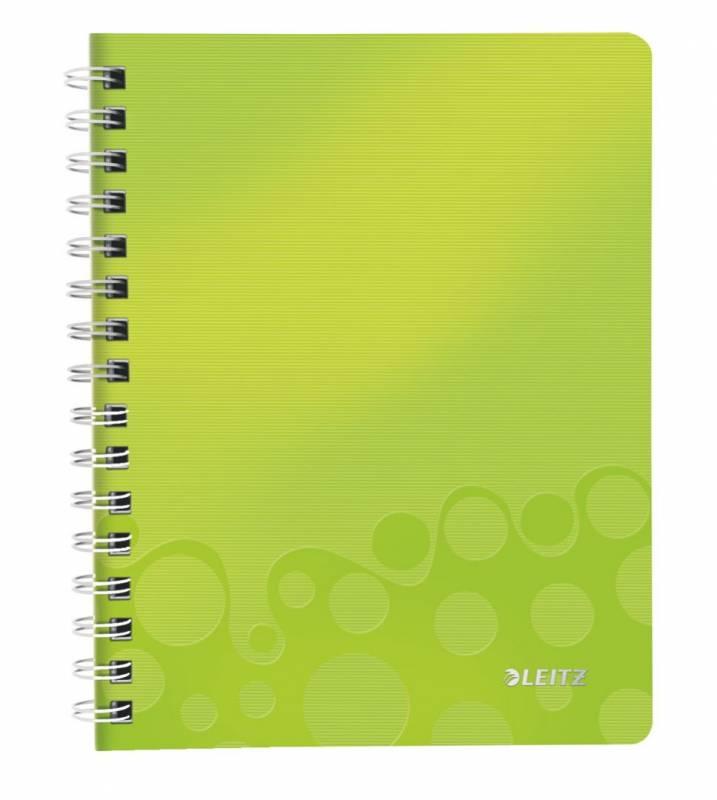 Image of   Notesbog PP WOW A5 linieret m/hul grøn 80ark