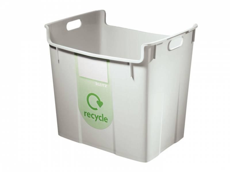 Billede af Papirkurv Leitz Basko 40l grå m/recycling-label