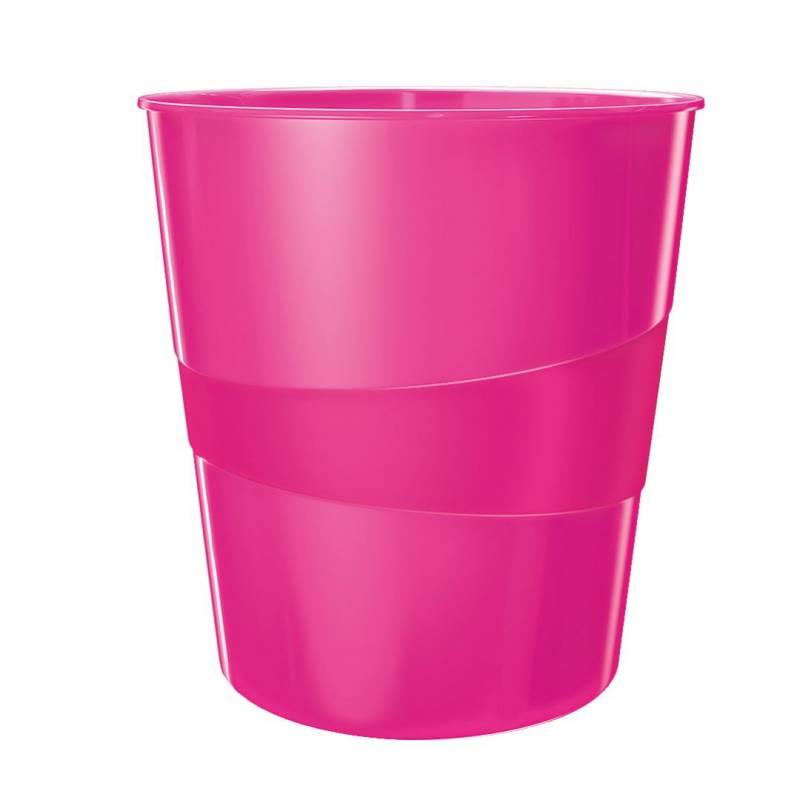 Billede af Papirkurv Leitz Plus 15L WOW pink