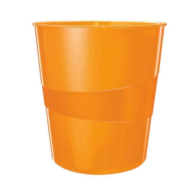 Billede af Papirkurv Leitz Plus 15L WOW orange
