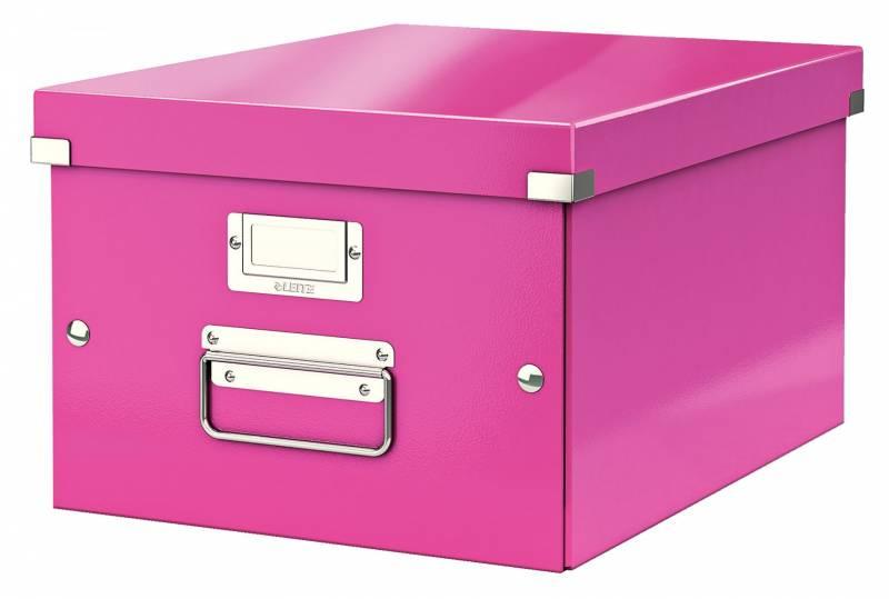 Billede af Arkivboks Leitz Click&Store WOW pink medium