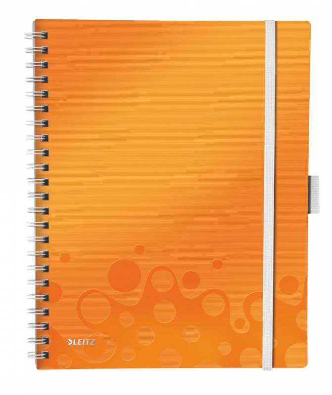 Image of   Notesblok Be Mobile A4 lin. Leitz WOW 80g 80 ark orange